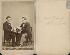 Alexandre Fanelli, Paris,  messieurs prenant un verre Vintage CDV albumen carte