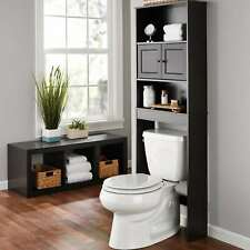 Bathroom Over The Toilet Space Saver Storage Cabinet With 3-Fixed Shelf Espresso