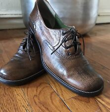 MATERIA PRIMA By GOFFREDO FANTINI OXFORDS ANTIQUE LEATHER SHOES SIZE 7 Italy