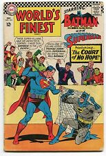 WORLD'S FINEST #163 - SUPERMAN & BATMAN TEAM-UP - 1966