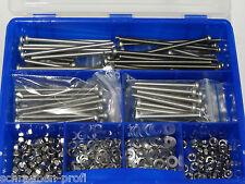 Linsenkopfschrauben Sortiment BOX ISO 7380 TX M6 mit TORX 200 Teile EDELSTAHL A2
