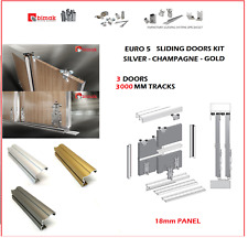 EURO 5 BIMAK SLIDING WARDROBE DOOR GEAR SET FOR 3 DOORS 3M TRACK KIT