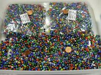 2 Pounds Assorted Colors India Spacer Glass Beads Wholesale Bulk Lot (TR-57)