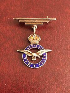 VINTAGE ROYAL AIR FORCE RAF SILVER & ENAMEL SWEETHEART BROOCH