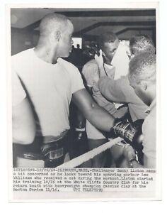 Sonny Liston 1964 Classius Clay Fight CANDID Original 7x9 TRAINING