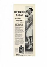 VINTAGE 1957 GAY INTEREST SEXY WET MAN IN TOWEL WILLIAMS LECTRIC SHAVE AD PRINT