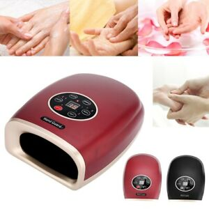 Cordless Hand Massager W/ Heat Air Compression Point Numb Tension Relief Massage