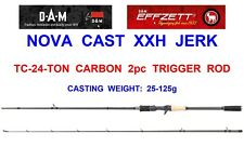 DAM EFFZETT 2pc NOVA CAST XXH JERK ROD PIKE BOAT DEAD BAIT LURE SPINNING CATFISH