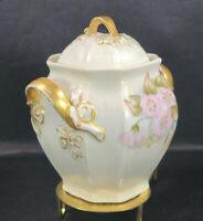 Antique JPL Jean PouyatLimoges Lidded Pot Urn Jar 1842 - 1920s