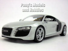 Audi R8 1/24 Scale Diecast Metal Model by Welly - SILVER