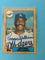 1987 Topps #232 Reggie Williams AUTO Autographed Signed Los Angeles Dodgers