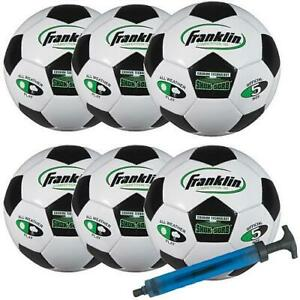 Franklin Comp 100 Team Soccer Ball - 6 Pack with Pump