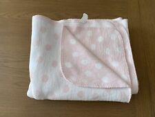 Cream and Pale Pink Spot Soft Thick Rich Cotton Blanket Babies R Us 120 x 150 cm