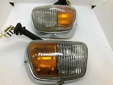 Mercedes W110 Hella Fog Light Turn Signal Light lamp set Blinker Genuine NOS