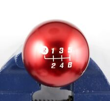 SHIFT SOLUTIONS CO. ANOD RED 6 SPEED ENGRAVING CS LITE 150 GRAMS SHIFT KNOB
