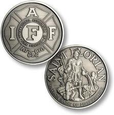 St Florian Patron Saint medal of Firefighter's IAFF coin antique nickel AFL-CIO