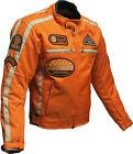 Homme Moto CE Armure Cordura Textile Veste Orange.Moto Veste De Motard Taille XL