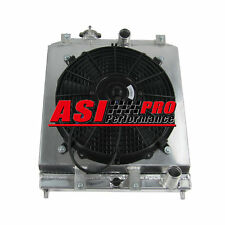 Aluminum Radiator +Shroud Fan For 92-00 Honda Civic EK EG DEL SOL 93-97-AU