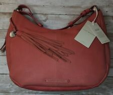 Lucky Brand Leather Handbag With Crossbody Shoulder Strap New Coral NWT