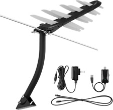 Tv Antenna, 1byone Amplified Outdoor Digital Hdtv Antenna 85-100 Miles Range wi