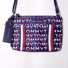 Tommy Hilfiger Crossbody Purse Double Compartment Spell Out 10 1/2 X 7 X 3 1/2