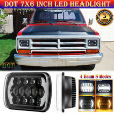 "7x6"" LED Headlight DOT Hi Lo Beam with DRL for Dodge D150 D250 D350 W150 W250"