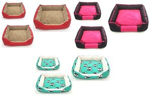 Pet Bed Dog Cat Cushion Small Animal Sponge Soft Warm Comfortable Bed L, XL, M