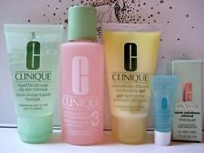 CLINIQUE 3-Step OILY SKIN Travel Size Set + Acne Solutions Clearing Gel .1oz/3ml