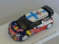 Spark S3327 - CITROEN DS3 WRC n°2 Monte carlo 2012 Hirvonen 1/43