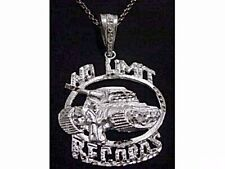 LOOK HUGE NEW No Limit Soldier Pendant Charm Records Jewelry Genuine Sterling si