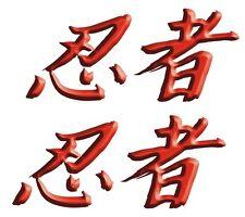 Japanese Kanji meaning Ninja Kawasaki ZX 14 12 10 6R 250R 300 650 1000 Decal set