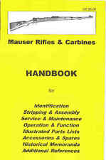 Mauser Rifles & Carbines Assembly, Disassembly Manual