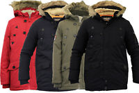 New Brave Soul Kids Padded Sherpa Hooded Parka Fur Lined Winter Boys Jacket Coat