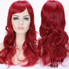 Natural Black Brown Blonde Hair Wig Women Long Wavy Straight Party Cosplay Wig T