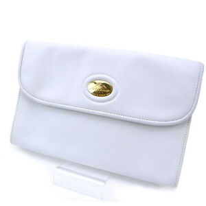 Longchamp Shoulder bag White Woman Authentic Used Y933