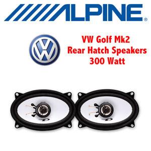 "VW Golf Mk2 II 1983-1995 - 4""x6"" 10x15cm Rear Hatch/Shelf Speakers Upgrade Kit"