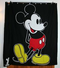 Disney Mickey Mouse Black Fabric Shower Curtain Cotton Red Yellow Jay Franco