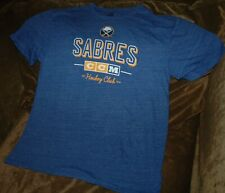Buffalo Sabres throwback vintage t-shirt CCM men's large NEW with tags NHL blue