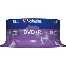 25 x Verbatim DVD+R 4.7 Go (16x) 120min broche / gâteau box 43500 uk stock