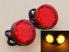 2X Motorcycle Bike 20LED Amber Turn Signal Blinker Light Indicator Universal Red