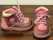 Pat & Ripaton Pink Leather Boots sz 5.5 Toddler Girls Shoes European Boutique