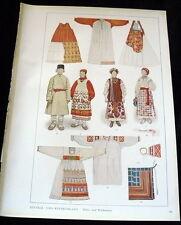 RUSSIAN TRADITIONAL Costume & Designs Print Kostumschnitte Gewandformen 1940s