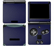 Blue Carbon Fiber Vinyl Decal Skin Cover Sticker for Game Boy Advance GBA SP