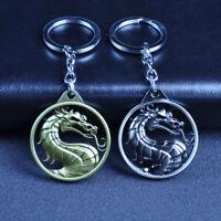 Mortal Kombat Action Figure Toy Metal Logo Pendant Keyring Keychain