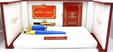 100% Authentic Cartier Pasha Fountain Pen - Blue Color With Box and Extras