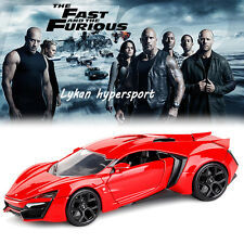 1:24 FAST AND FURIOUS MOVIE SERIES LYKAN HYPERSPORT DIECAST MODEL VEHICLE CAR
