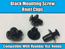 10x Clips Para Hyundai KIA Honda Remache Negro expansión de tornillos de montaje