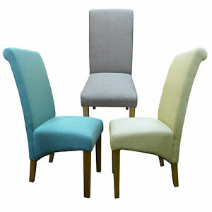 Dining Chairs in Natural fabric