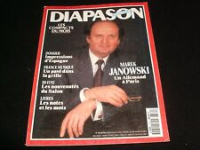 DIAPASON FRENCH MAGAZINE<> MARCH 1992  #380 <> MAREK JANOWSKI