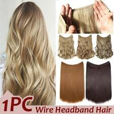 100% Real Thick Secret Headband No Clip in Hair Extensions Full Head One Piece T